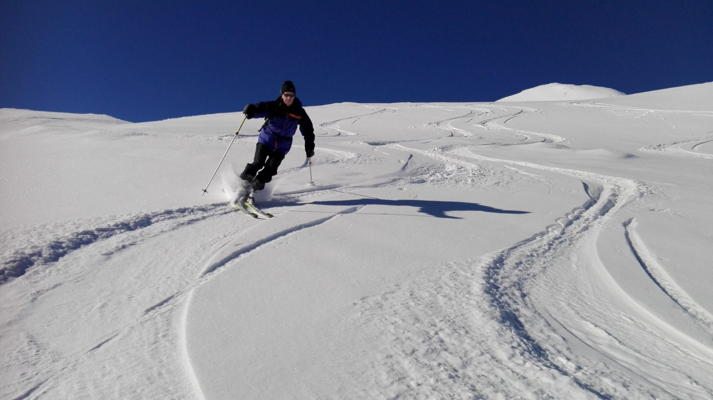 off-piste skiing winter val thorens